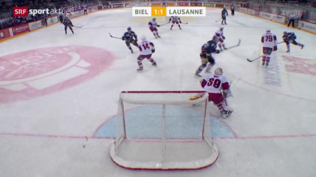 Video «Eishockey: Biel-Lausanne» abspielen