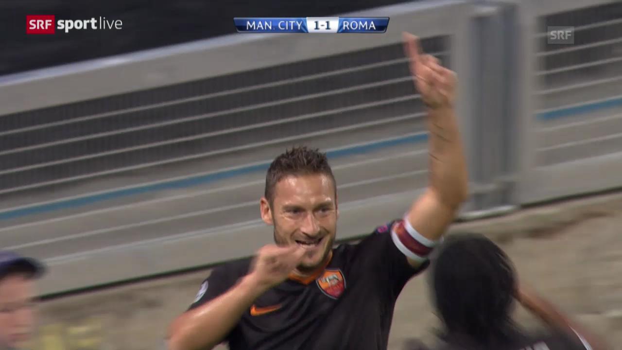 Fussball: CL, ManCity-Roma