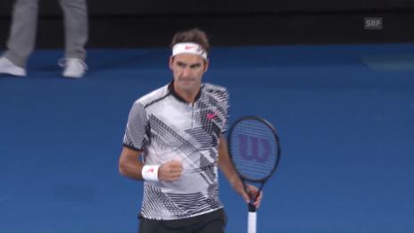 Link öffnet eine Lightbox. Video Federer - Berdych: Die Live-Highlights abspielen