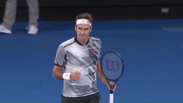 Video «Federer - Berdych: Die Live-Highlights» abspielen
