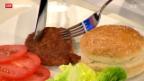Video «Aus dem Hamburger wird ein Lab-Burger» abspielen