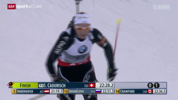 Video «Biathlon: Sprint in Pokljuka» abspielen