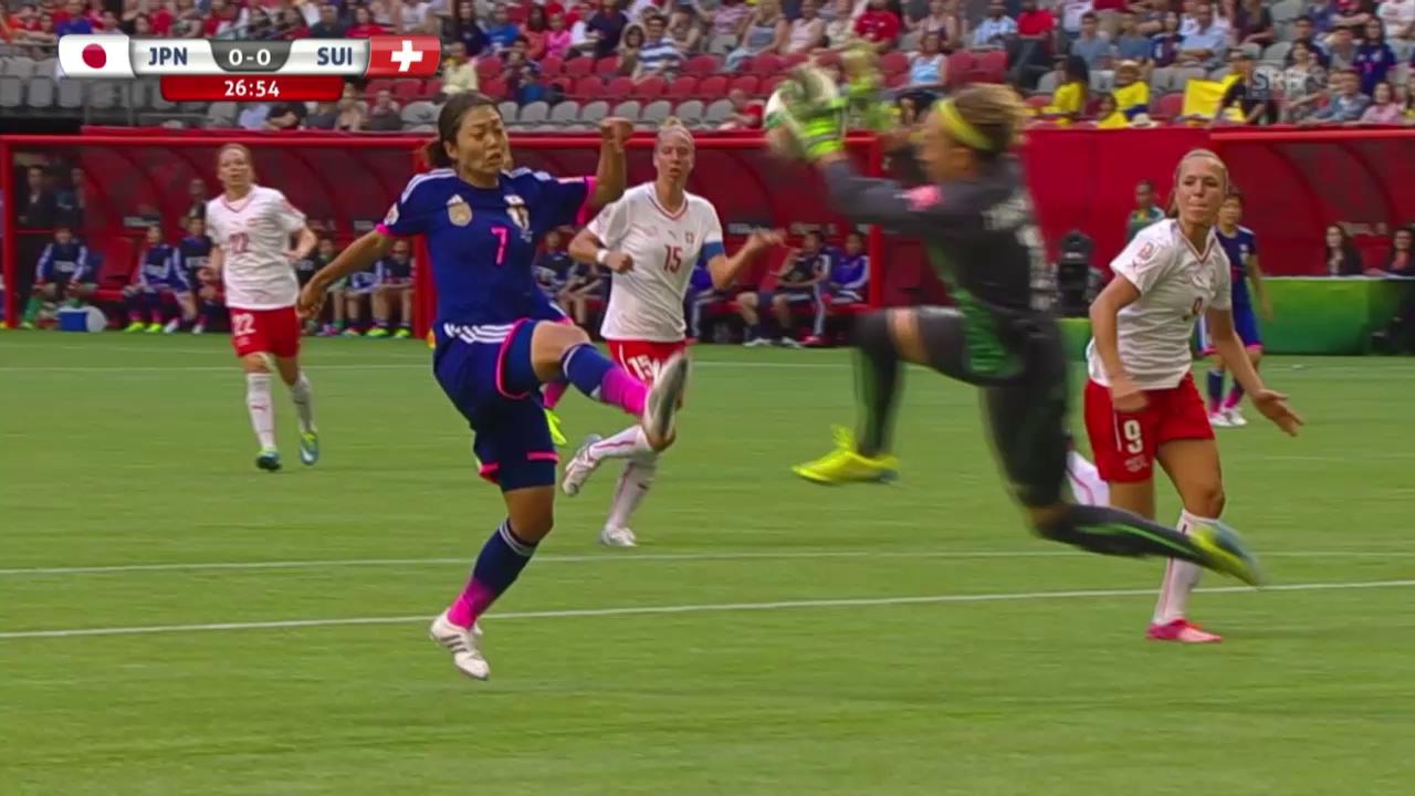 Fussball: Frauen-WM, Zusammenfassung Japan-Schweiz