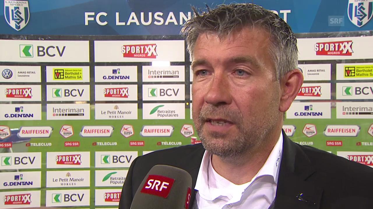 Fussball: Urs Fischer nach dem Sieg von Thun in Lausanne