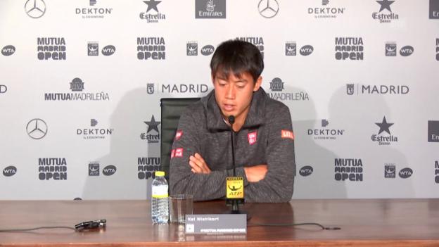 Video «Nishikori: «Wollte nicht zu viel Risiko eingehen»» abspielen