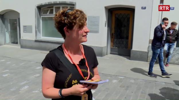 Laschar ir video «Cun Diana Cadruvi al Buskers»