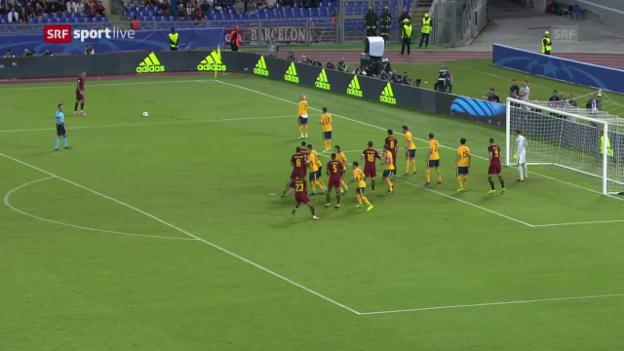Video «Dank starken Keepern: Keine Tore bei Roma-Atletico» abspielen