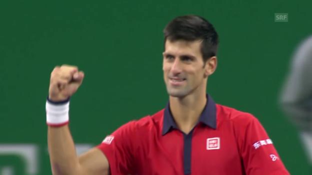 Video «Tennis: ATP Schanghai, Final Djokovic - Tsonga, Highlights (SNTV)» abspielen