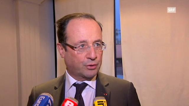 Hollande zur Lage in der Zentralafrikanischen Republik (franz. Originalton)