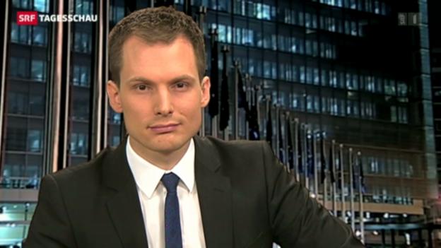 Video «Einschätzung von Jonas Projer in Brüssel zum Zypern-Entscheid» abspielen
