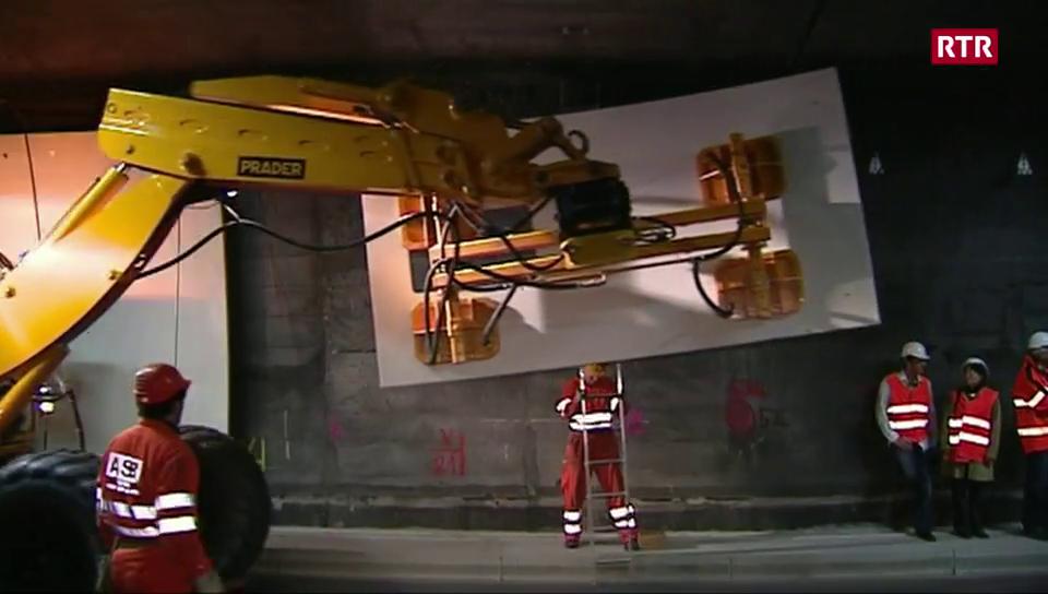 Il tunnel dal San Bernardino durant la sanaziun
