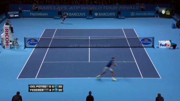 Video «Tennis: Federer gewinnt spektakulären Ballwechsel («sportlive»)» abspielen