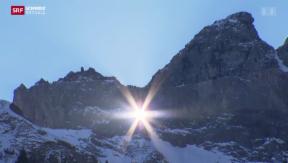 Video «Die Sonne blickt durch das Martinsloch » abspielen