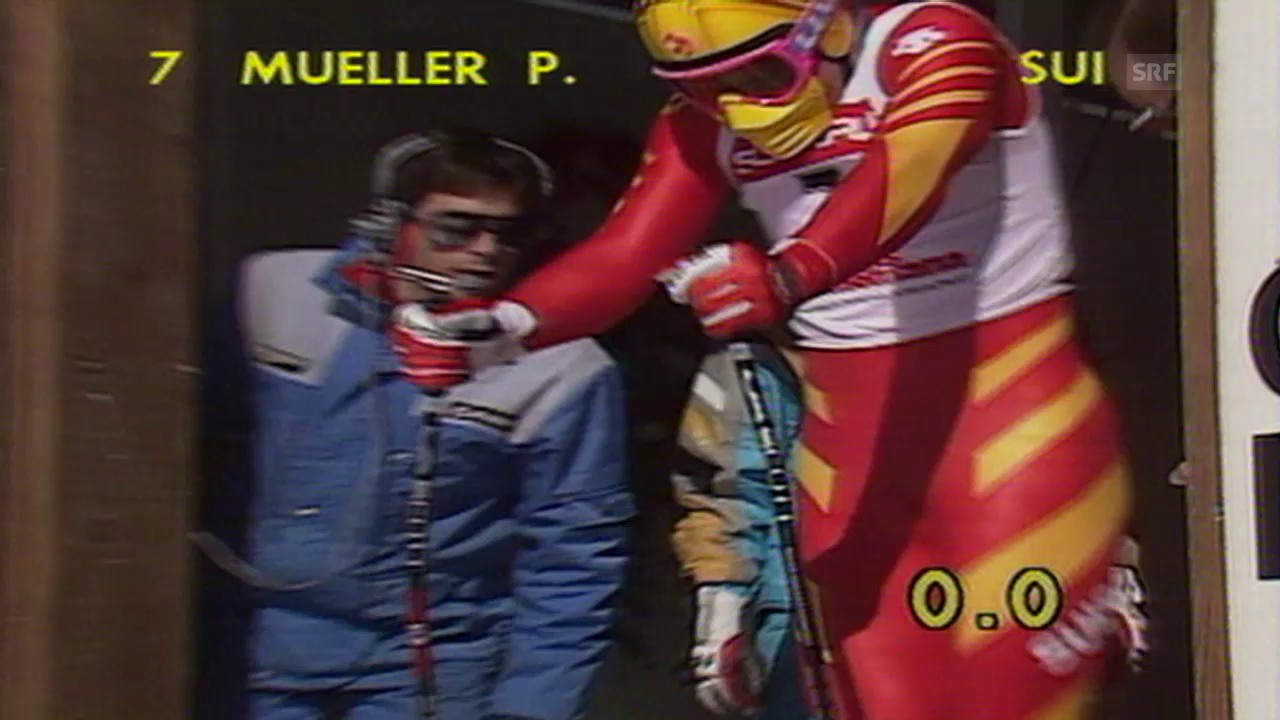 Ski alpin: Peter Müller wird 1987 Weltmeister