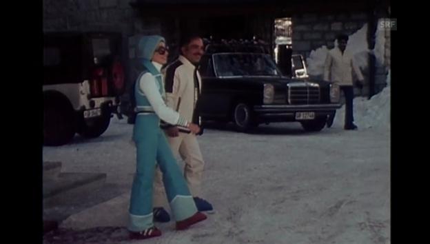 Video «König Hussein mit seiner dritten Ehefrau in St. Moritz (1975)» abspielen
