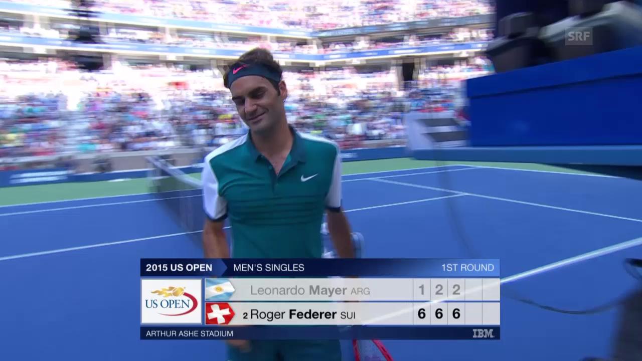 Tennis: US Open, Federer - Mayer, Matchball