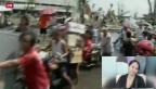 Video «Überlebende bangen um Angehörige und Freunde» abspielen