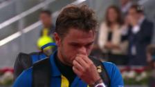 Video «Wawrinka muss in Madrid erneut früh zusammenpacken» abspielen