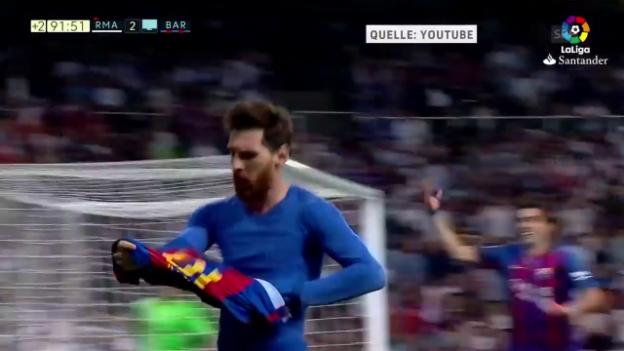 Video «Messis 500. Tor zum Clasico-Sieg» abspielen