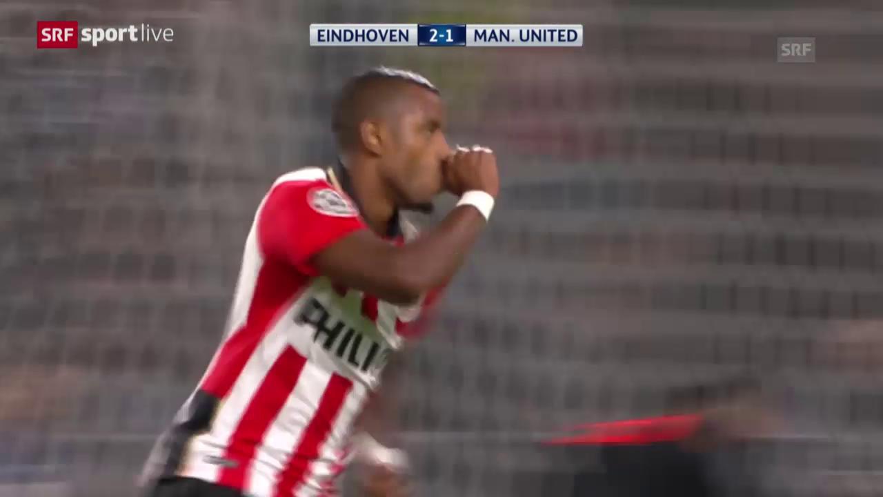 Fussball: Champions League, Zusammenfassung PSV Eindhoven - Manchester United