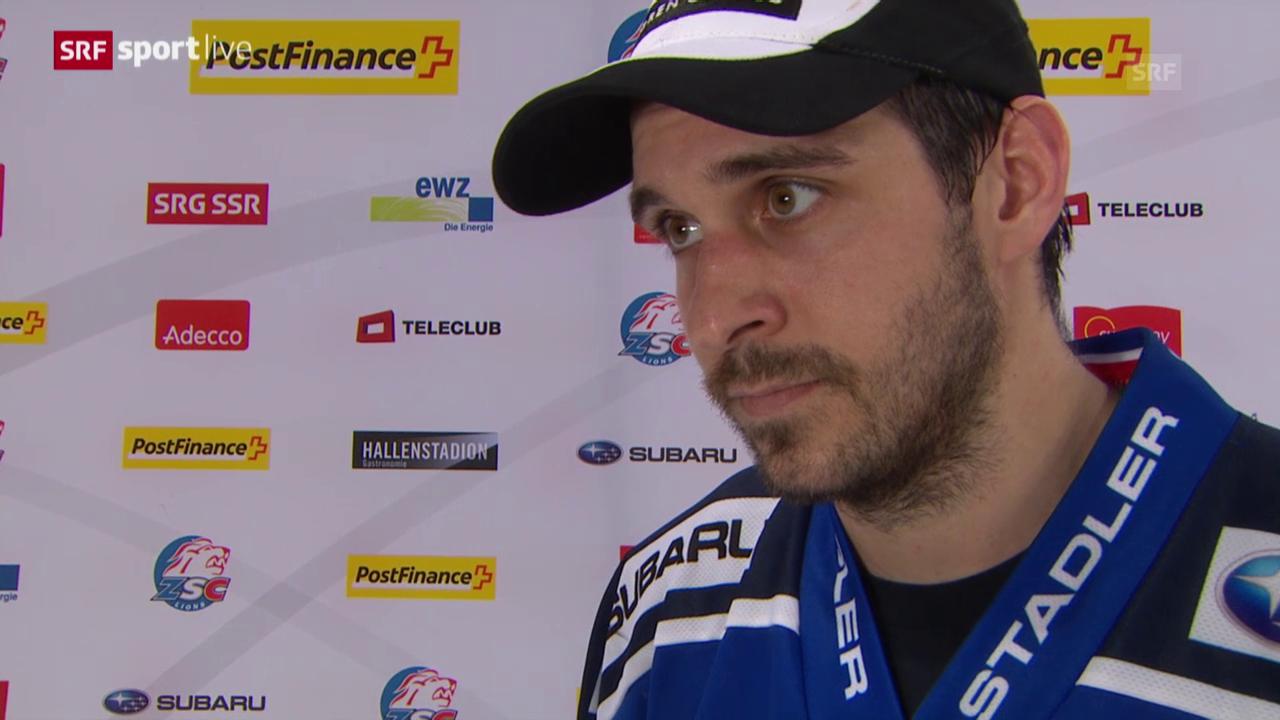 Eishockey: Playoff, 1/4, Game 5, ZSC-Biel, Interview mit Luca Cunti