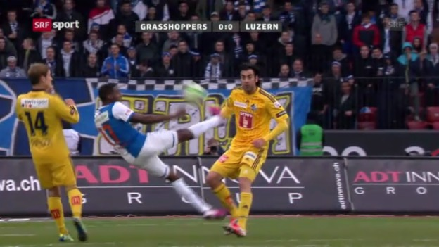 Video «Highlights GC - Luzern («sportpanorama»)» abspielen