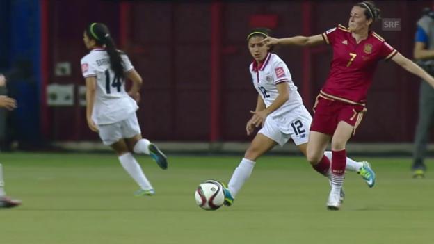 Video «Fussball: WM Frauen, Spanien - Costa Rica» abspielen