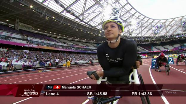 Video «Manuela Schär gewinnt Silber über 800 m» abspielen