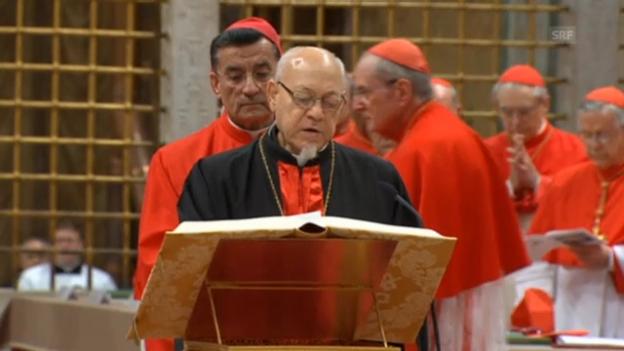 Video «Kardinäle legen Eid zum Konklave ab (unkommentiert)» abspielen