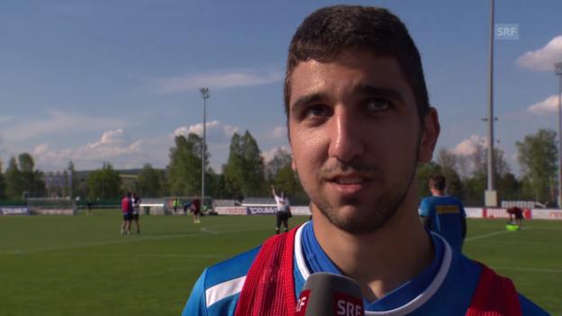 Video «Munas Dabbur über das Spiel gegen Basel» abspielen