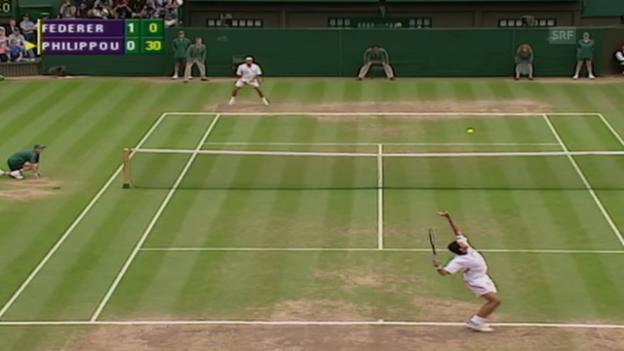 Video «Tennis: Wimbledon 2003, Final, Federer - Philippoussis» abspielen