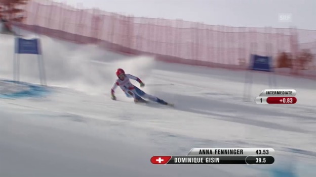 Video «Ski alpin: WM 2015 in Vail/Beaver Creek, Riesenslalom Frauen, 1. Lauf von Dominique Gisin» abspielen