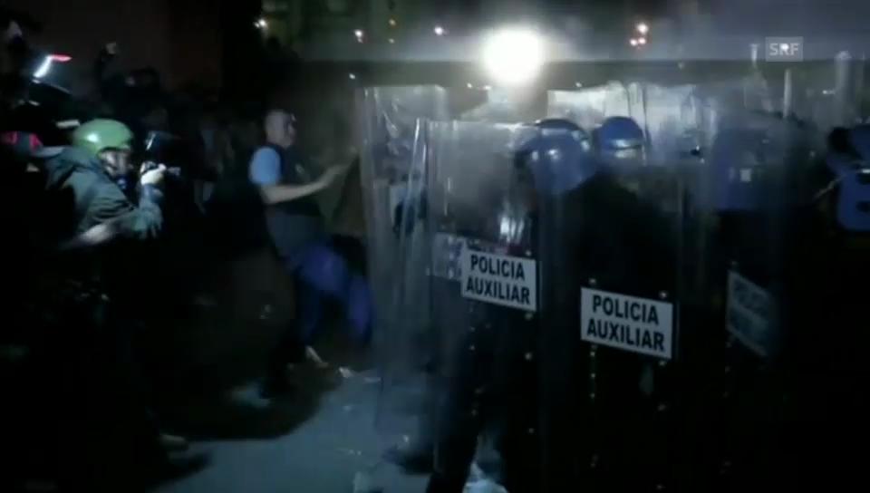 Ausschreitungen in der Nacht in Mexiko (unkomm.)