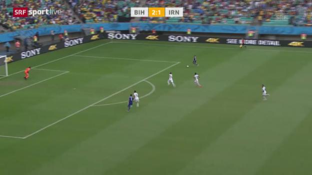 Video «FIFA WM 2014: Spielbericht Bosnien-Herzegowina - Iran» abspielen