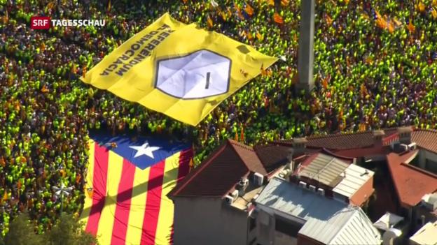 Video «In Katalonien droht umstrittene Abstimmung» abspielen