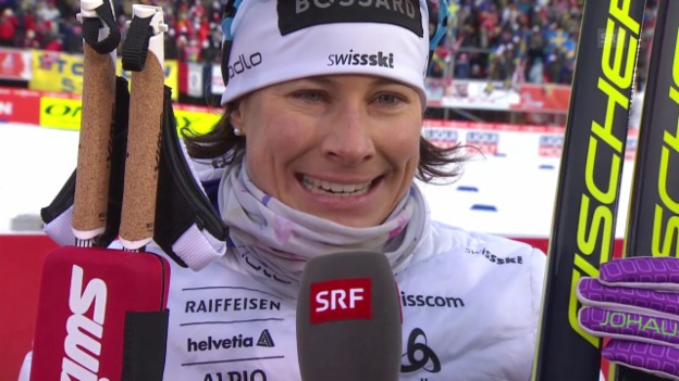 Video «Ski Nordisch: WM in Falun, 30-km-Rennen der Frauen, Interview mit Seraina Boner» abspielen