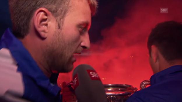 Video «Fussball: Cupfeier FC Zürich, Interview mit David Da Costa» abspielen
