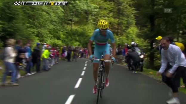 Video «Rad: Tour de France, Schlussphase 10. Etappe» abspielen