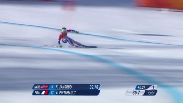 Video «Ski, Kombi-Abfahrt von Alexis Pinturault» abspielen
