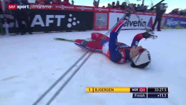 Video «Langlauf: 9. Tour de Ski, Frauen, Schlussetappe» abspielen