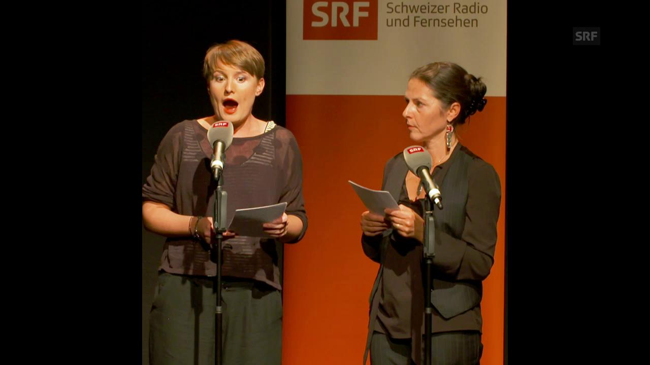 Camille Luscher «Le Mortifardet» und Roberta Gado «Üa sturiäll bärnìtali»