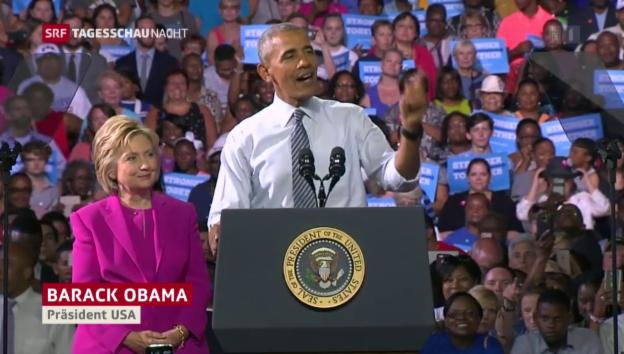 Video «Obama stärkt Clinton den Rücken» abspielen