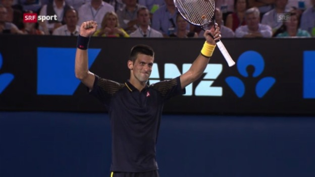 Video «Australian Open: Halbfinal Djokovic - Ferrer» abspielen