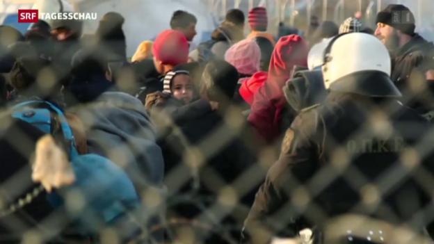Video «Balkanroute wird zum Nadelöhr» abspielen