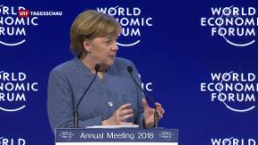 Video «Merkel spricht EU und Trump ins Gewissen» abspielen