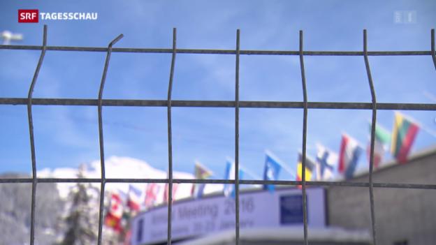 Video «Verschärftes Sicherheitsdispositiv in Davos» abspielen