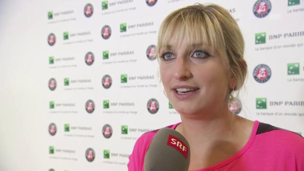 Video «Bacsinszky: «Das ist ein riesiger Zufall»» abspielen