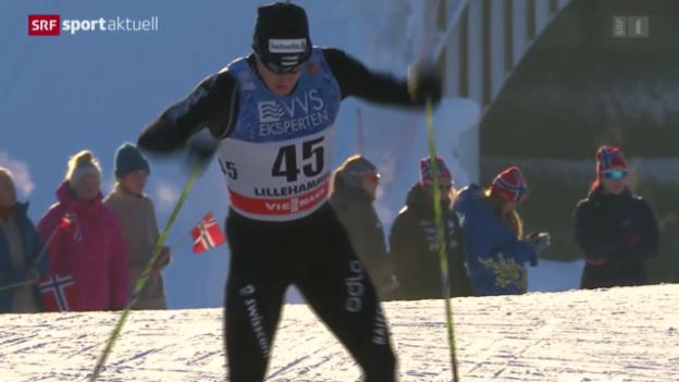 Video «Langlauf: Weltcup in Lillehamer» abspielen
