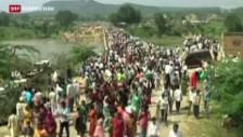 Video «Massenpanik auf Brücke» abspielen