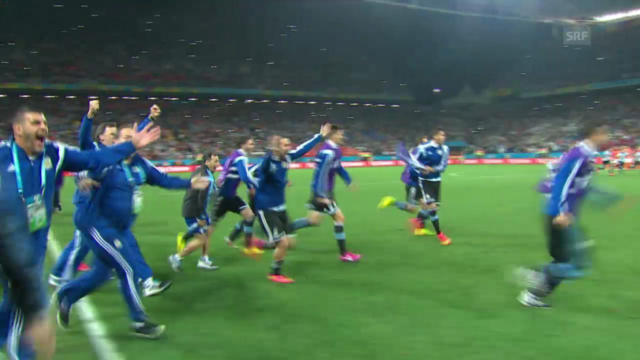 FIFA WM 2014: Spielbericht Niederlande - Argentinien